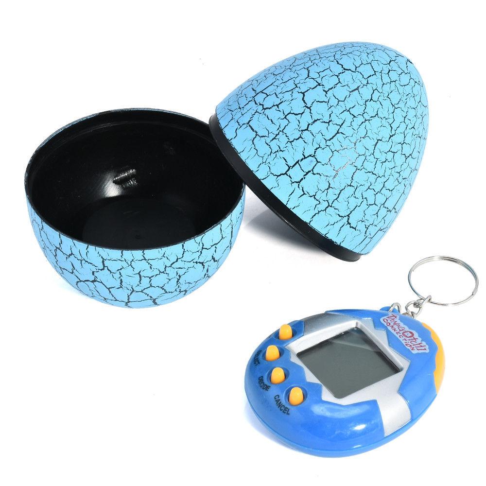 Игрушка электронный питомец Тамагочи в Яйце Динозавра Eggshell Game Blue