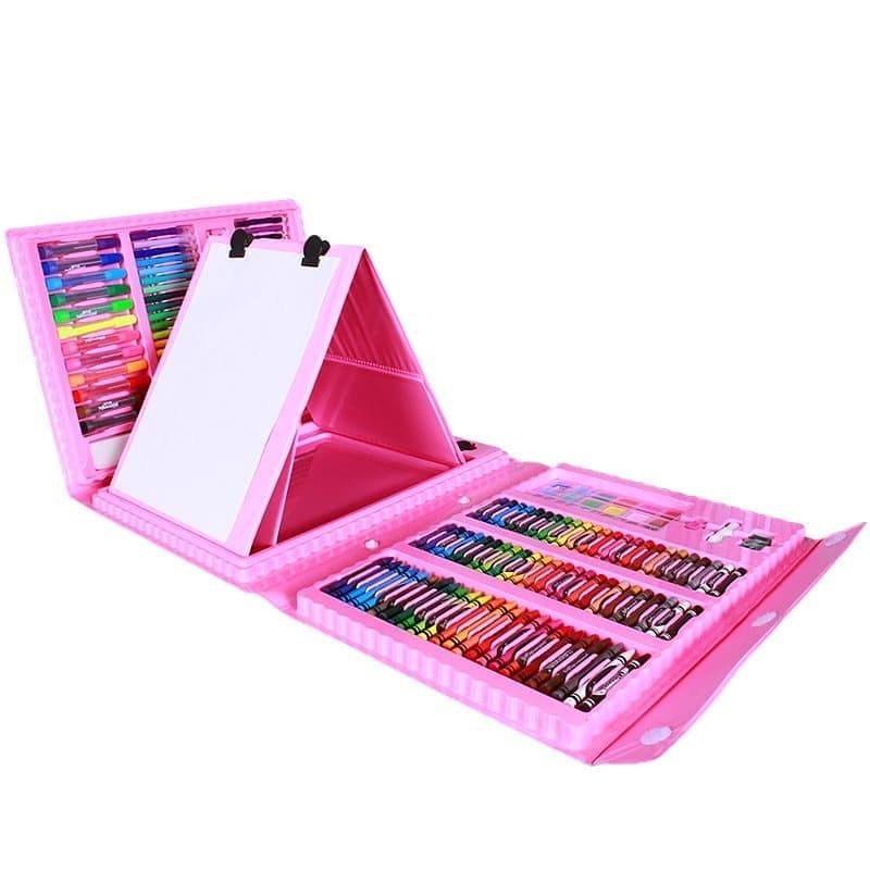 Набор для рисования с мольбертом в чемоданчике ML Art Set Pink