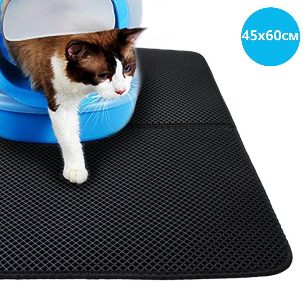 Водонепроницаемый коврик для кошачьего туалета 45х60см CLM02 Black