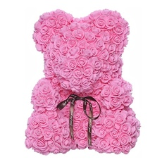 Мишка из роз 25см UFT Bear Flowers UFT BB2 Pink