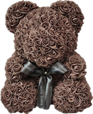 Мишка из роз 25см UFT Bear Flowers UFT BB4 Coffee