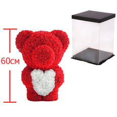 Мишка из роз c сердцем 60см UFT Bear Flowers UFT BS3 Red