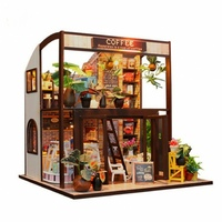 3D Интерьерный конструктор Midesize DIY Doll House MASSLINNA Coffe house